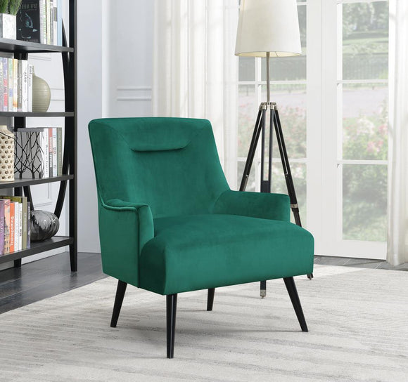 Mid-Century Modern Green Accent Chair