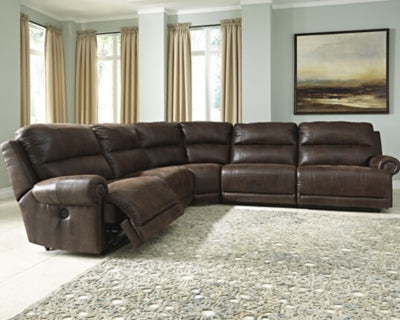 Luttrell Benchcraft 5-Piece Power Reclining Sectional