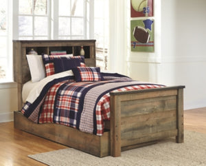 Trinell Signature Design by Ashley Bookcase Bed with Storage Drawer