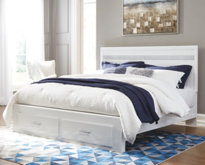 Jallory Signature Design by Ashley Bed with 2 Storage Drawers