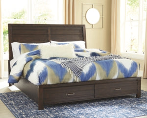 Darbry Signature Design by Ashley Bed with 2 Storage Drawers