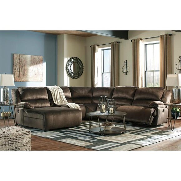 Clonmel Signature Design by Ashley 5-Piece Reclining Sectional