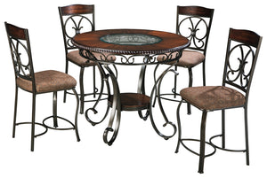 Glambrey Signature Design 5-Piece Dining Room Package