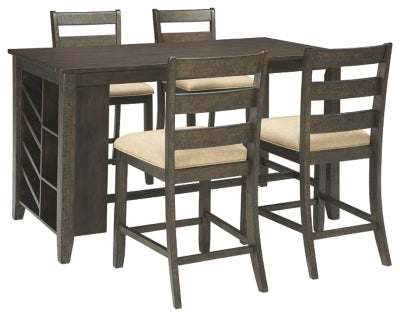 Rokane Signature Design Counter Height 5-Piece Dining Room Set