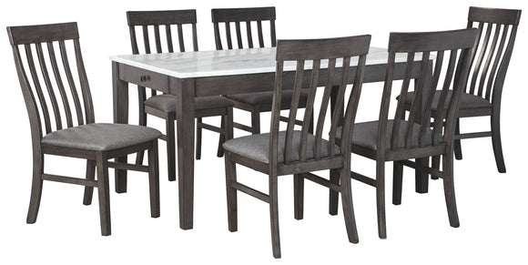 Luvoni Benchcraft 7-Piece Dining Room Package