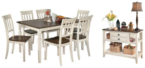 Whitesburg Signature Design 8-Piece Dining Room Package