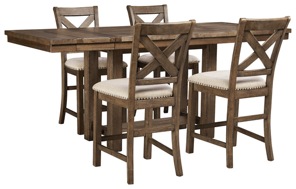 Moriville Signature Design 5-Piece Dining Room Package