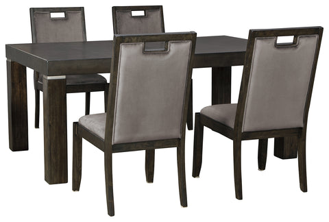 Hyndell Signature Design 5-Piece Dining Room Package