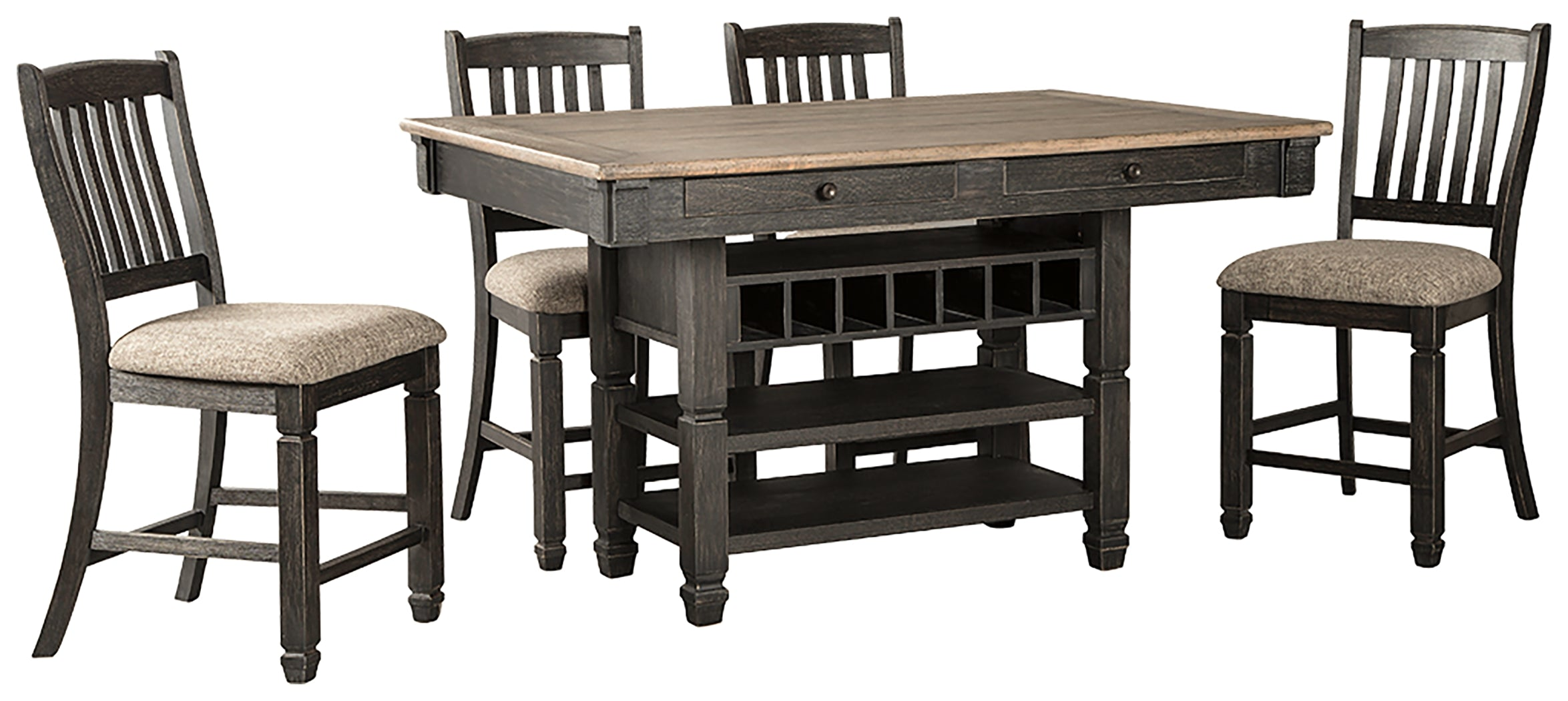 Tyler Creek Signature Design 5-Piece Dining Room Package