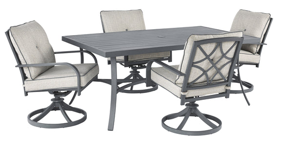Donnalee Bay Signature Design 5-Piece Outdoor Dining Set
