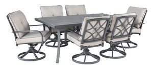 Donnalee Bay Signature Design 7-Piece Outdoor Dining Set