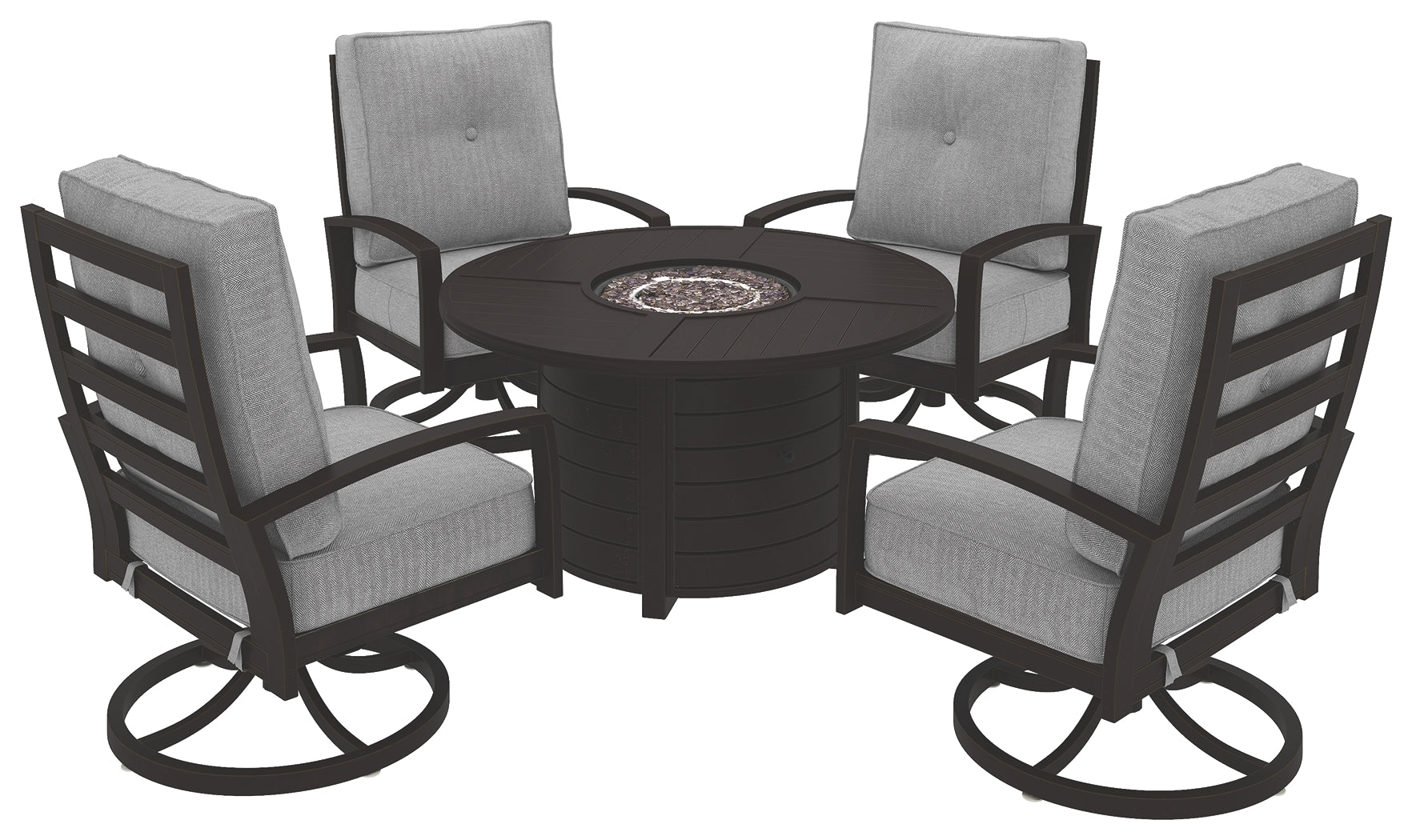 Castle Island Signature Design 5-Piece Outdoor Fire Pit Package