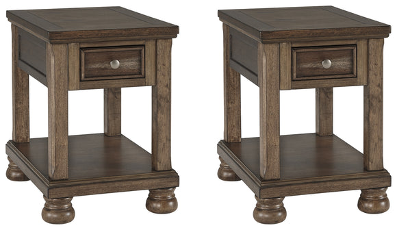Flynnter Signature Design 2-Piece End Table Package