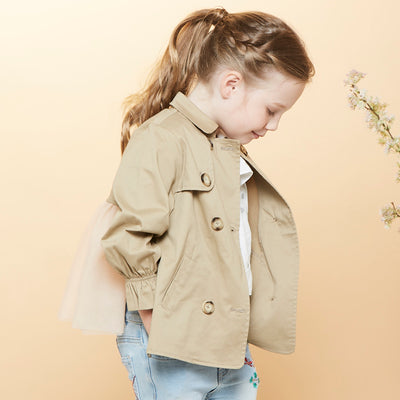 Poney Girls Trench Coat 2017