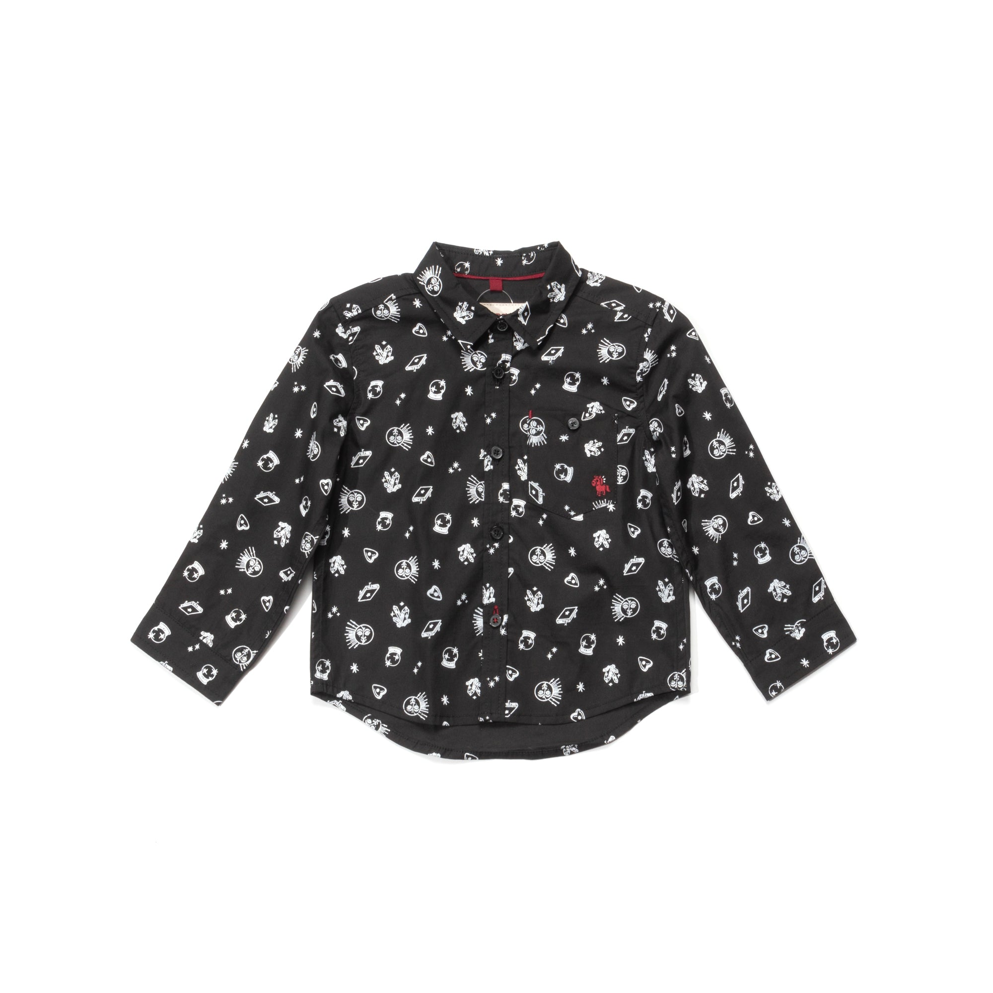 Poney Baby Boys Black Long Sleeve Shirt 2049