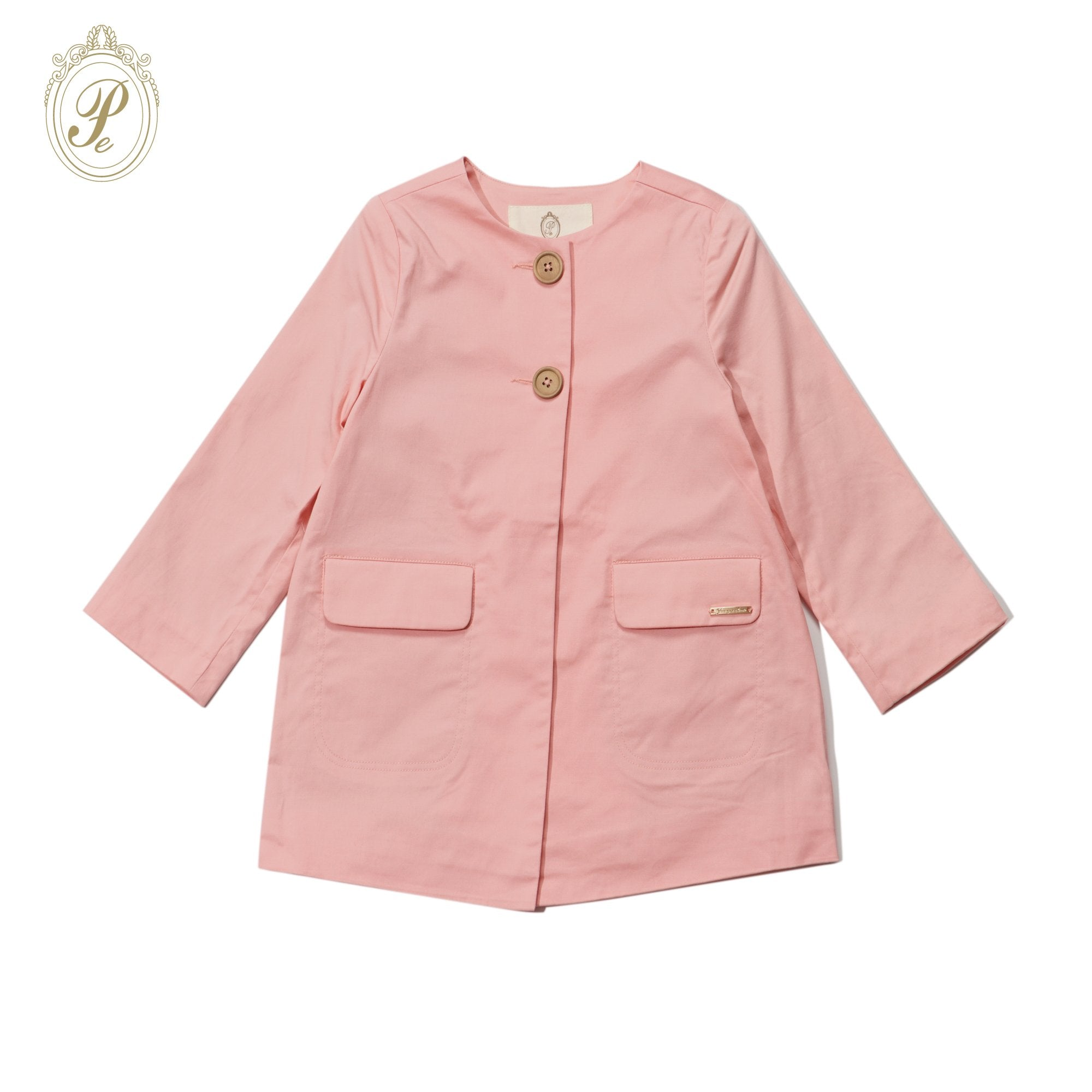Girls Pink Trench Coat 3325