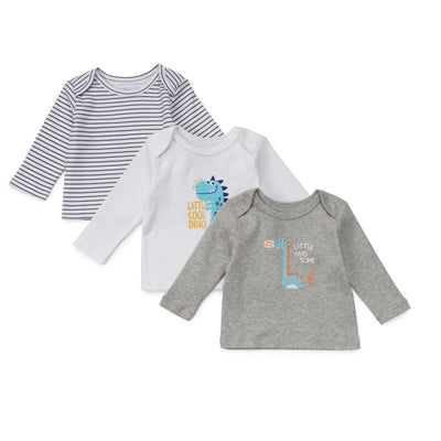 Poney Essential Boys 3-Pack Long Sleeve Top 80005
