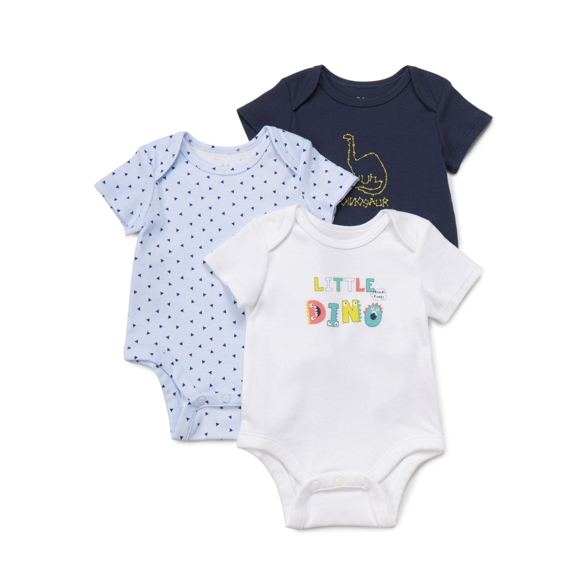 Poney Essential Boys 3-Pack Short Sleeve Bodysuits 80010