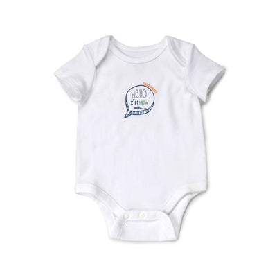 Poney Essential Boys 3-Pack Short Sleeve Bodysuits 80012