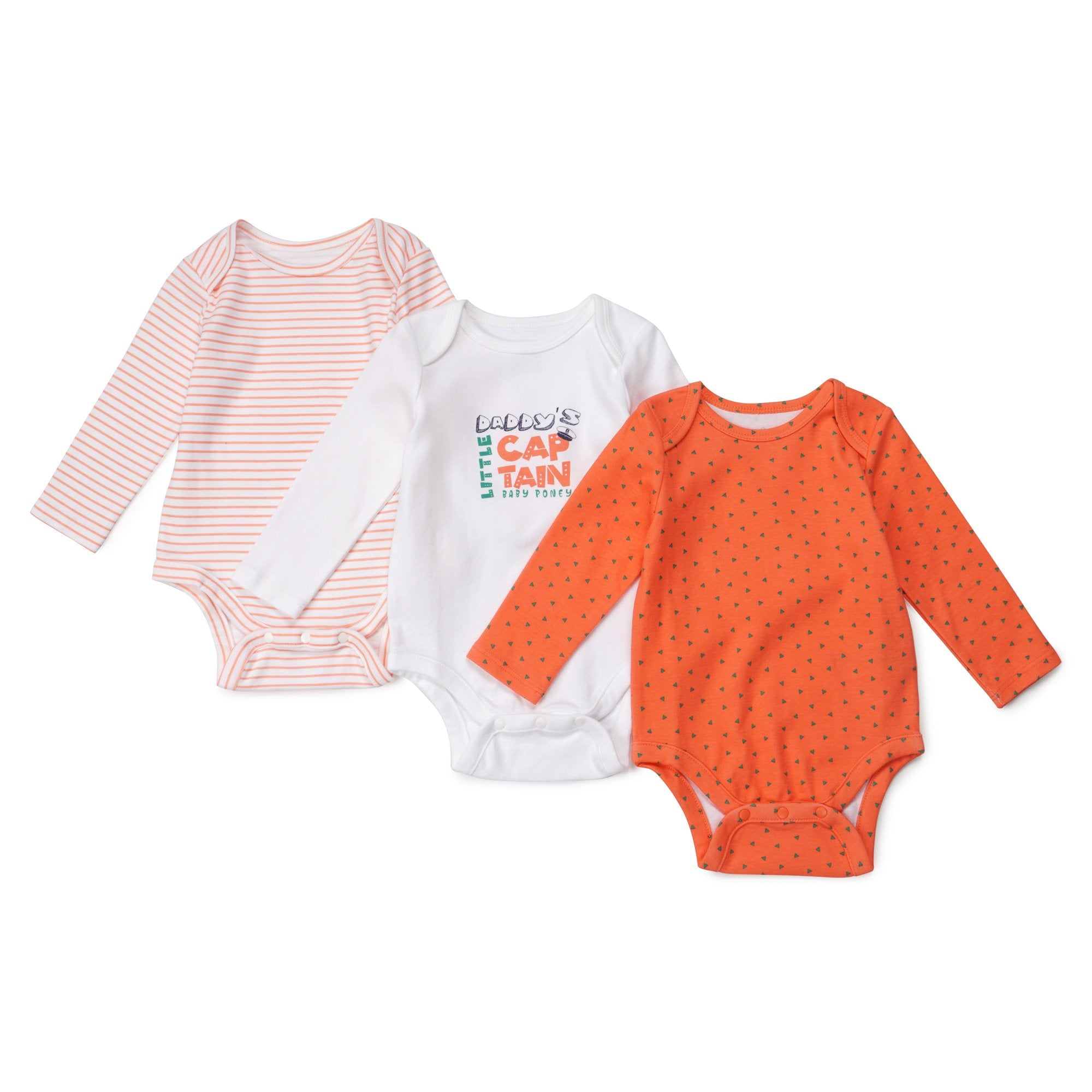 Poney Essential Boys 3-Pack Long Sleeve Bodysuits 80014