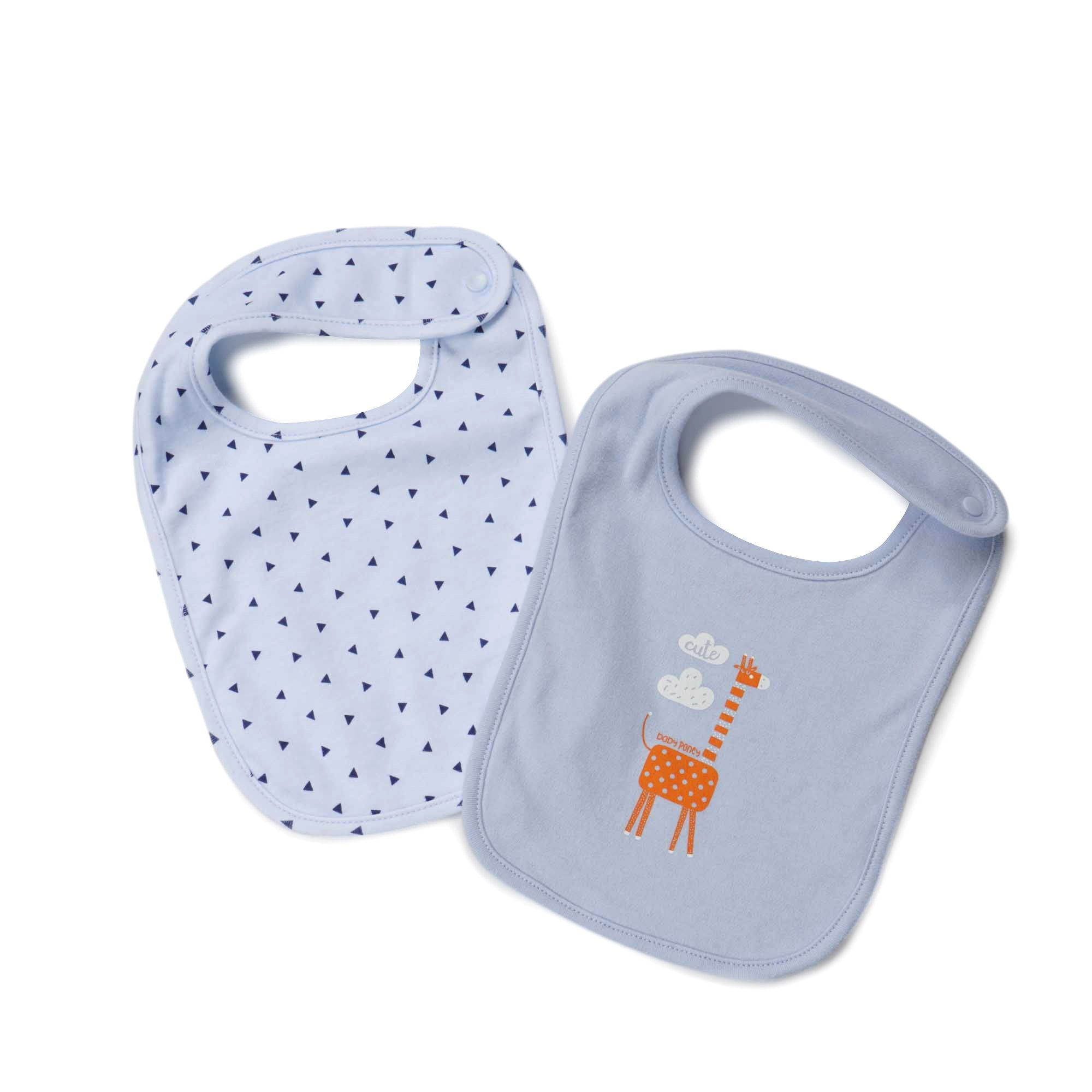 Poney Essential Boys 2-Pack Bibs 80029