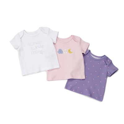 Poney Essential Girls 3-Pack Short Sleeve Top 80037