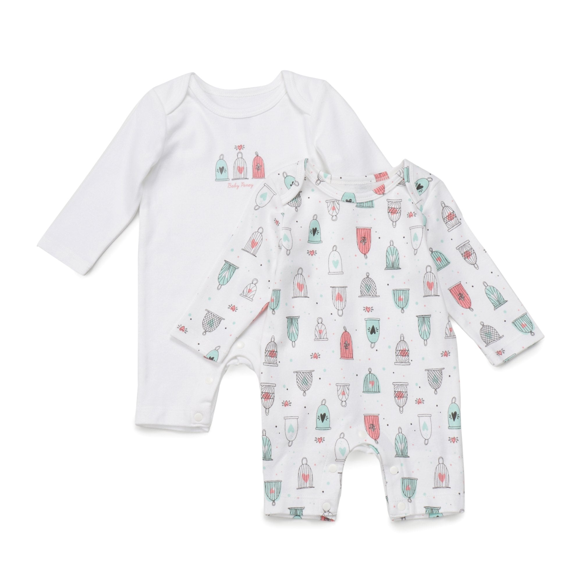 Poney Essential Girls 2-Pack Sleepsuits 80049