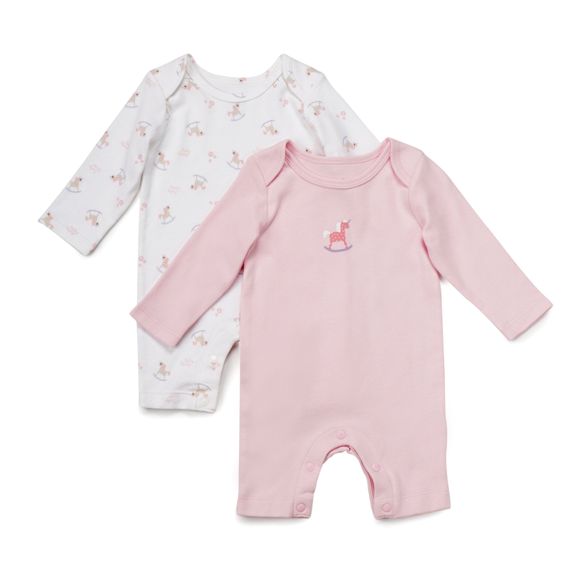 Poney Essential Girls 2-Pack Sleepsuits 80051