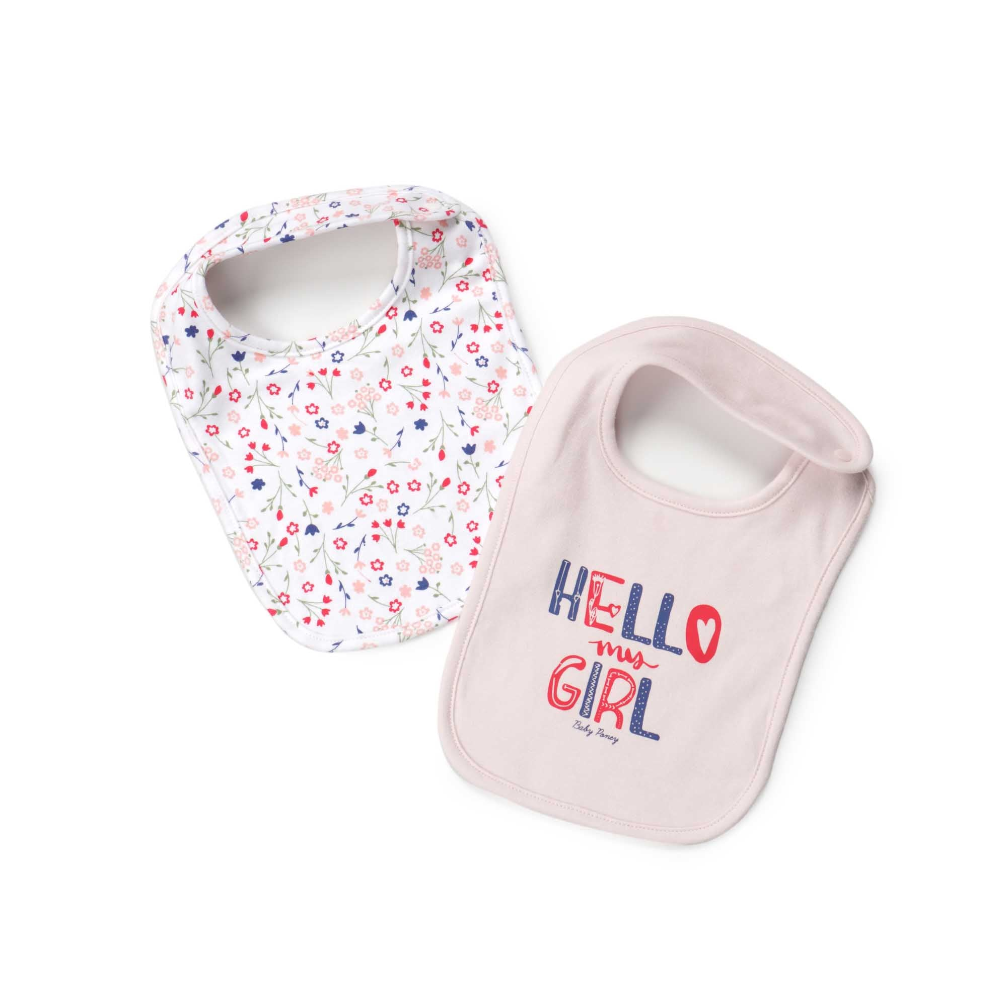Poney Essential Girls 2-Pack Bibs 80063