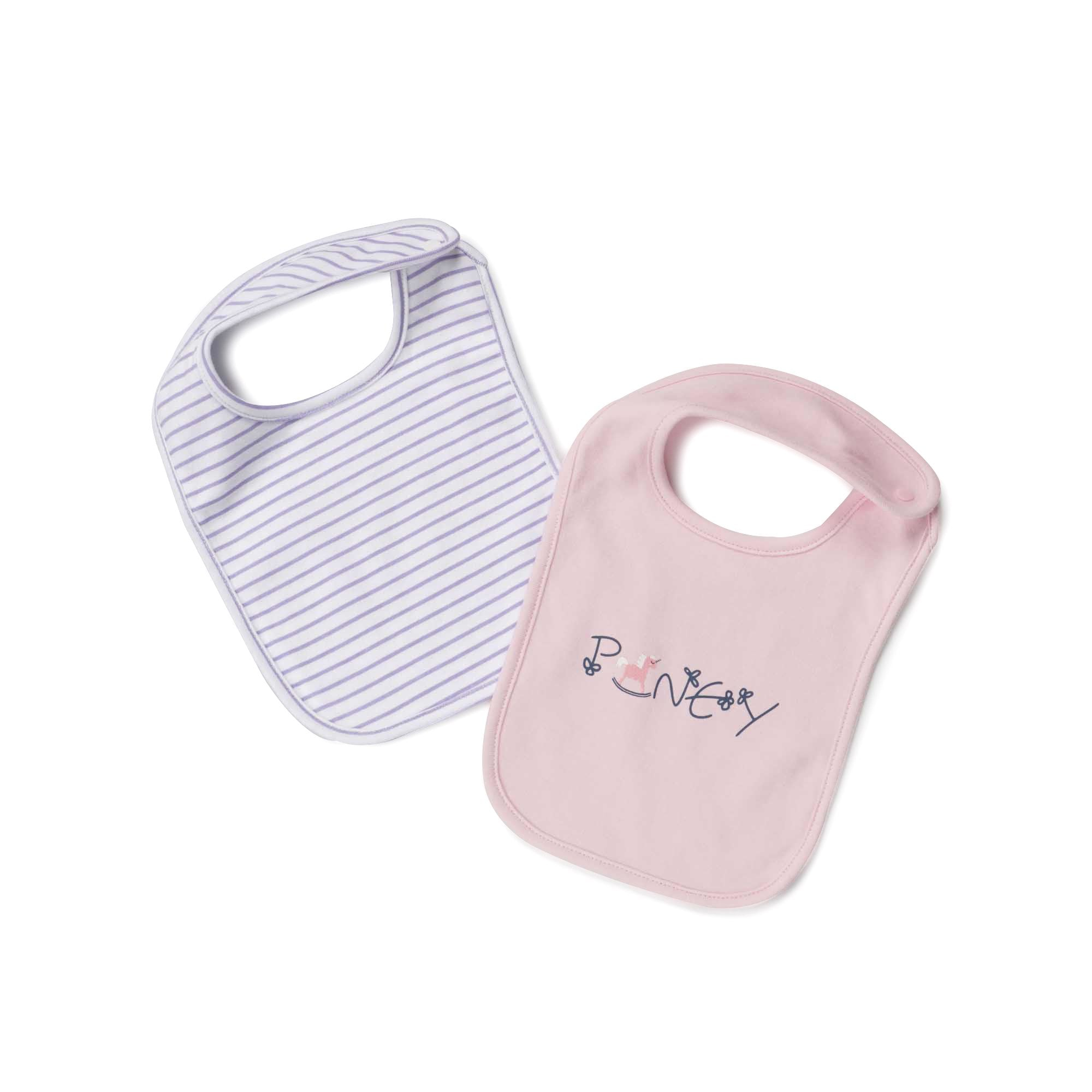 Poney Essential Girls 2-Pack Bibs 80065