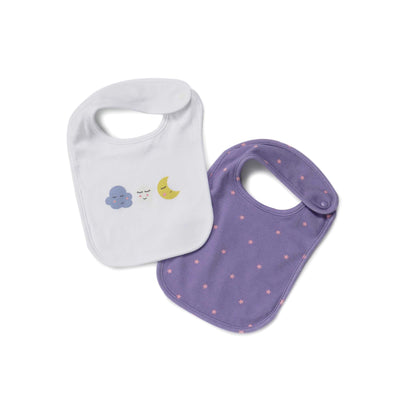 Poney Essential Girls 2-Pack Bibs 80066