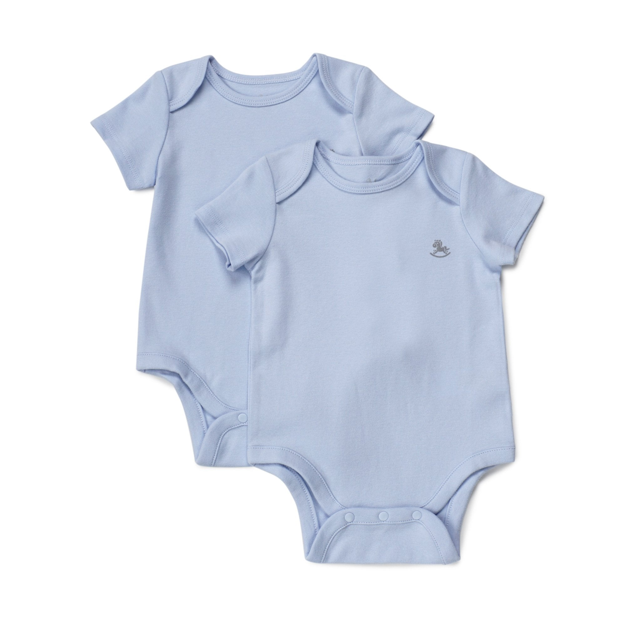 Poney Essential Boys 2-Pack Short Sleeve Bodysuits 80069