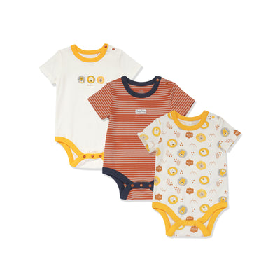 Poney Essential Boys 3-Pack Short Sleeve Bodysuits 80489