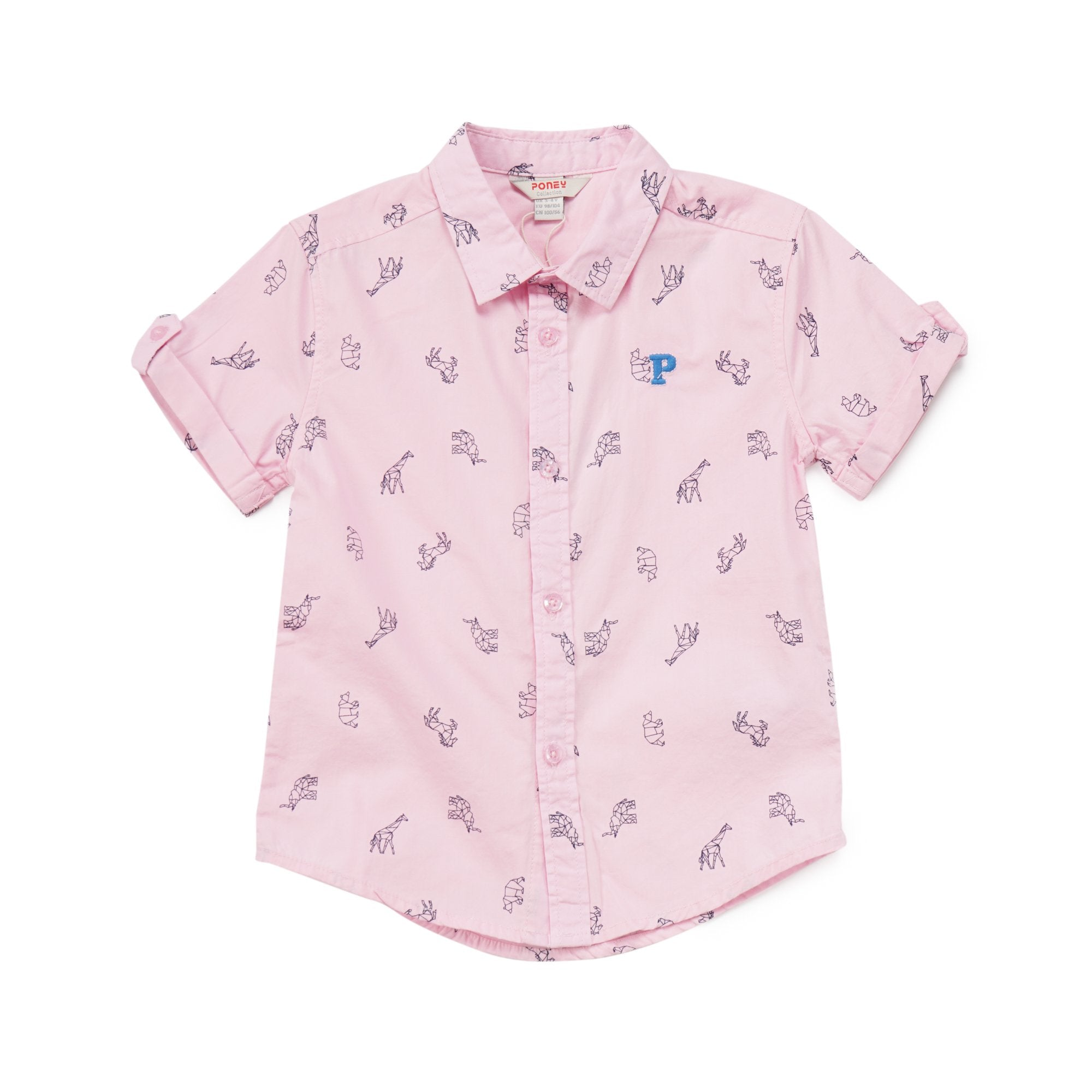 Poney Boys ShortSleeve Shirt 8053 (6mths-12yrs)