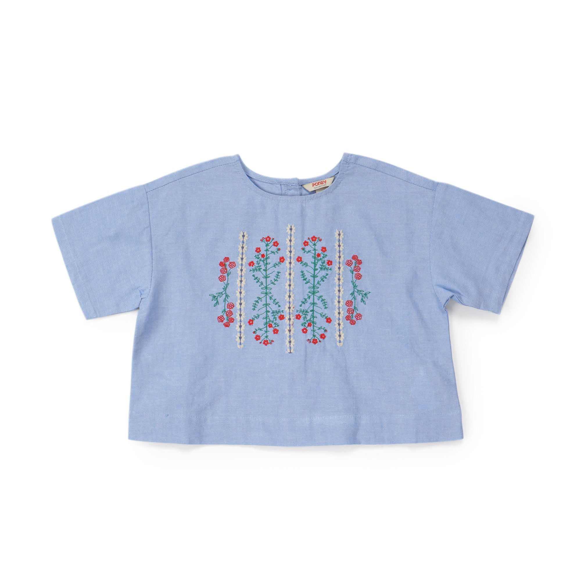 Poney Girls ShortSleeve Blouse 8175 (6mths-12yrs)
