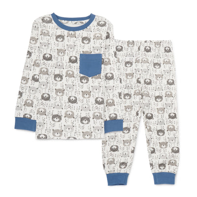 Boys White Pyjamas PLB10