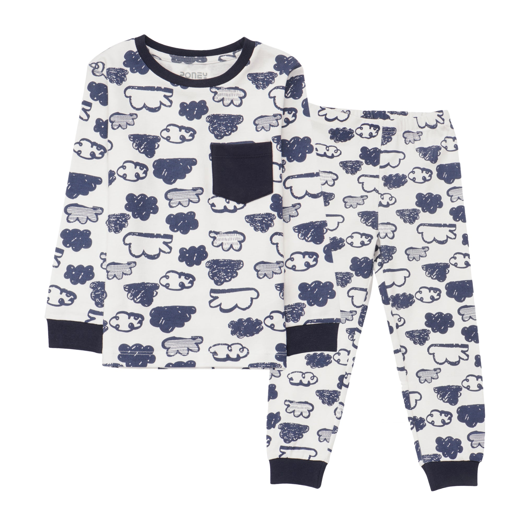Boys Navy Pyjamas PLB15
