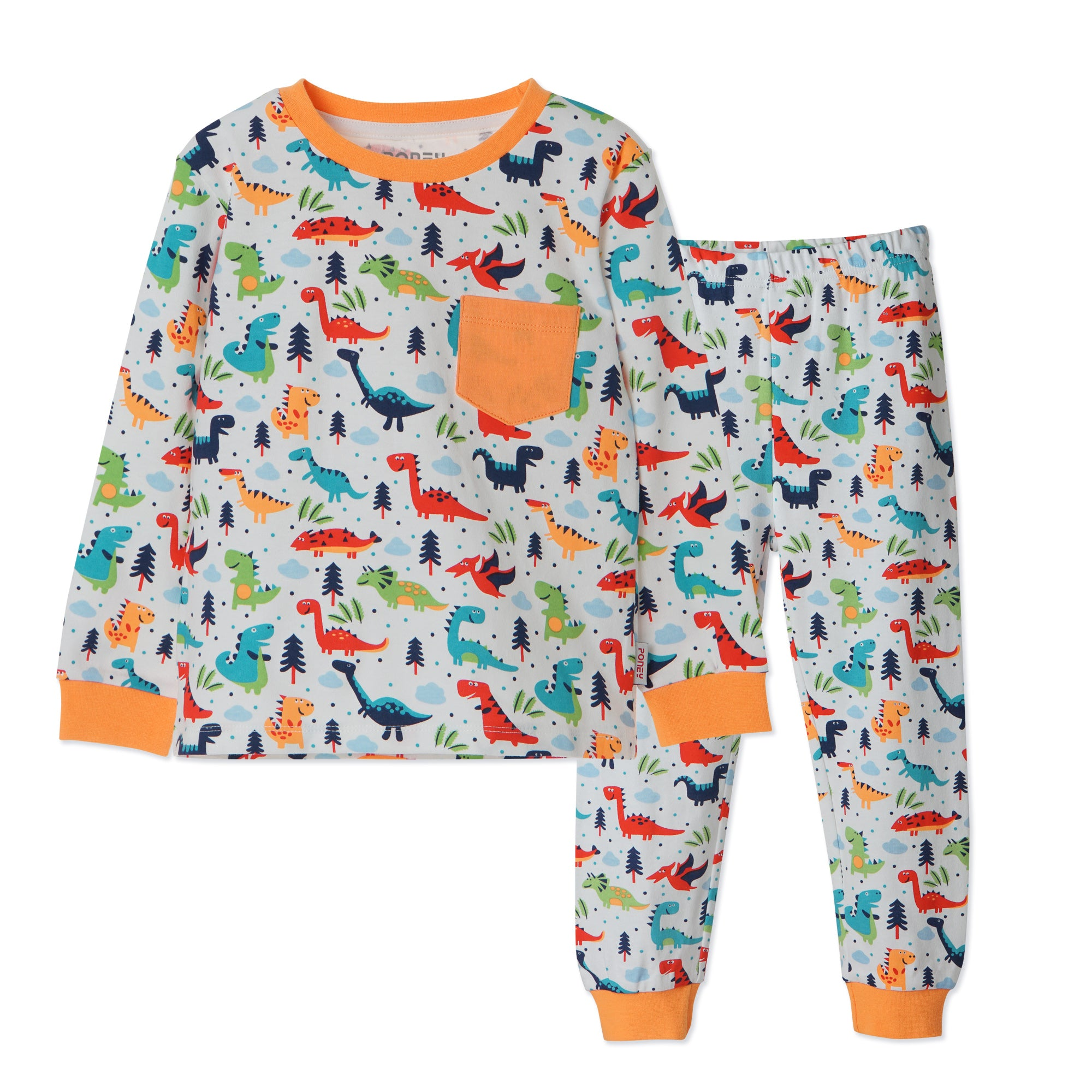 Boys Orange Pyjamas PLB18