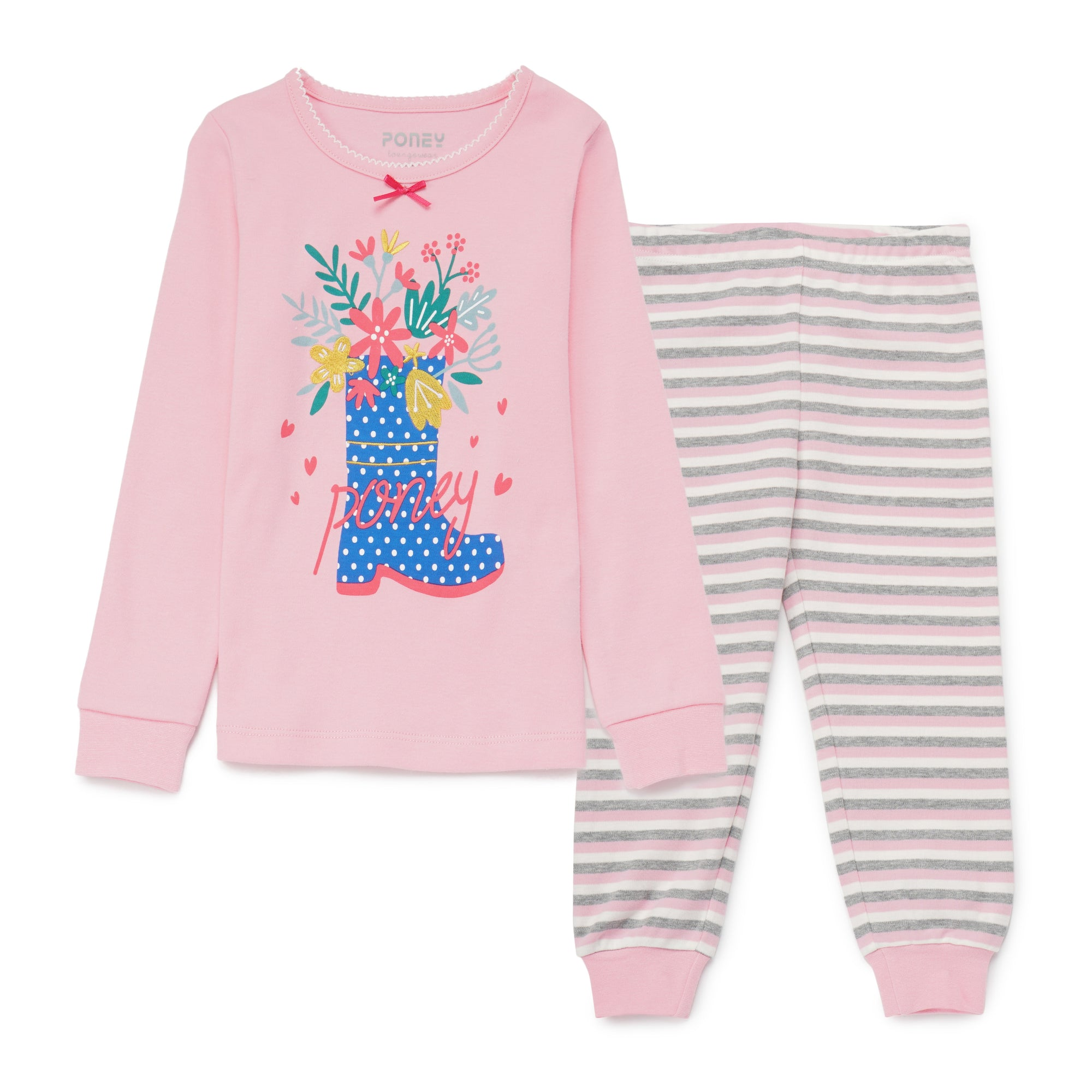 Girls Fuchsia Pyjamas PLG09