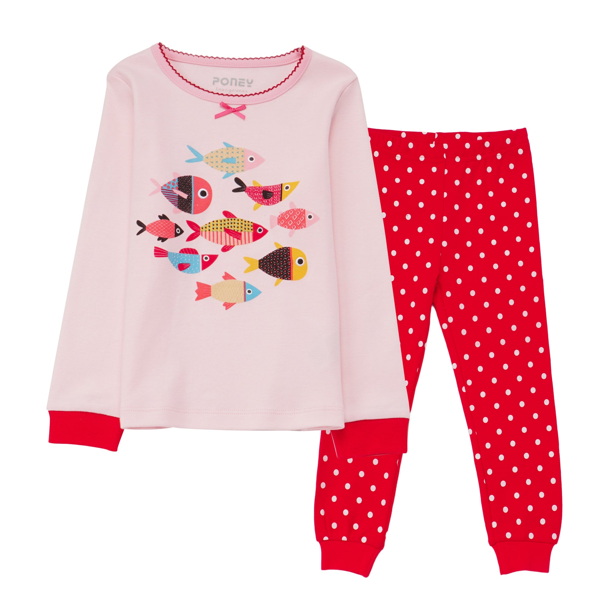 Girls Pink Pyjamas PLG10