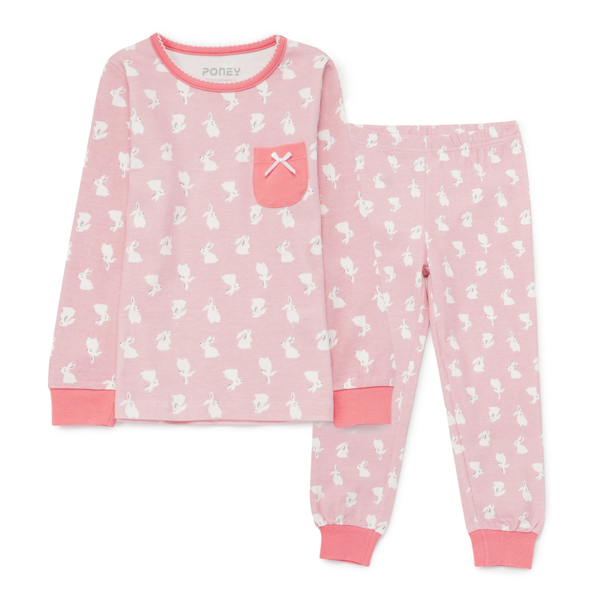 Girls Pink Pyjamas PLG14