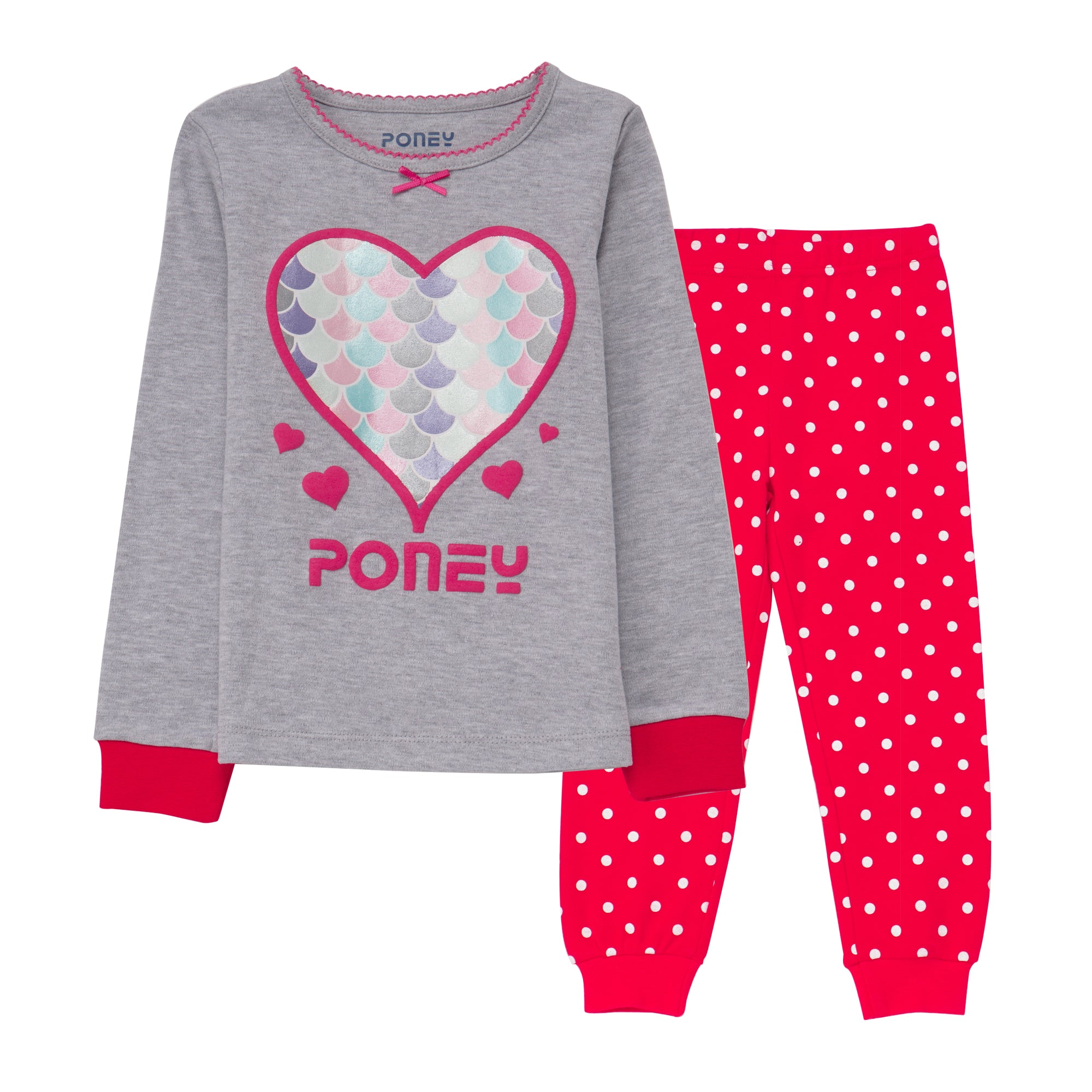 Girls Melange Pyjamas PLG16