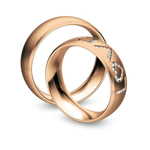 Nowotny Collection Ruesch Trauringe/Eheringe Hearts Love Infinity 66/38110-065-66/38120-065