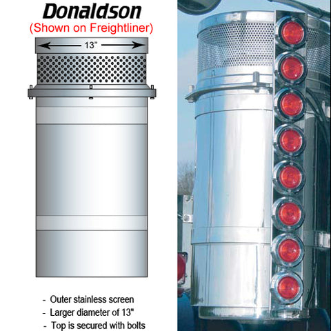 Donaldson brand air cleaner breathers diagram