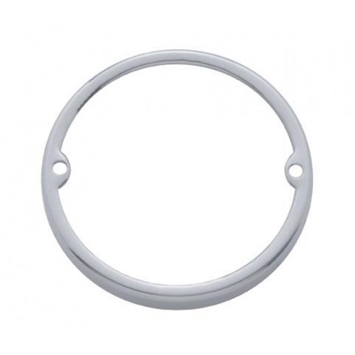 Stainless steel low-profile bezel for watermelon-style cab lights