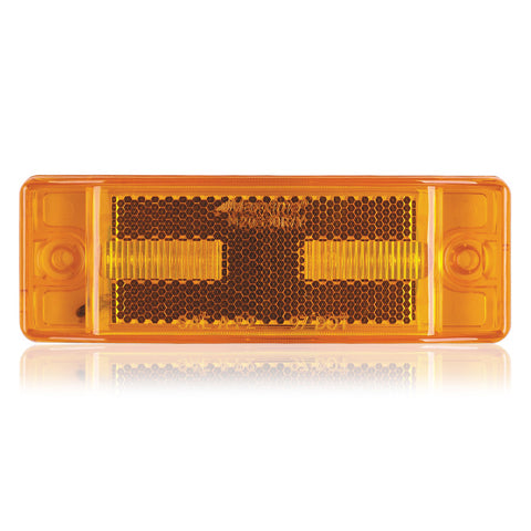 "Amber 2"" x 6"" rectangular 8 diode LED marker/TURN SIGNAL light"