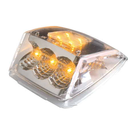 Spyder amber 11 diode LED Kenworth-style cab light - CLEAR lens