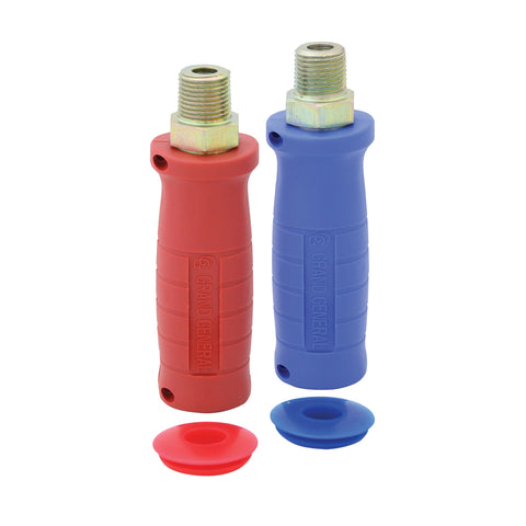 Glad hand hose connection grips - set of 2, red and blue