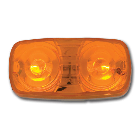 Amber tiger eye/double bubble incandescent marker light