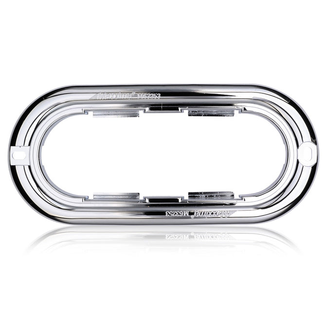 Maxxima oval chrome plastic light mounting flange